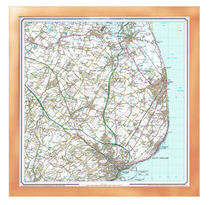 Personalised OS Landranger Wall Map - Choice of Frames & Size