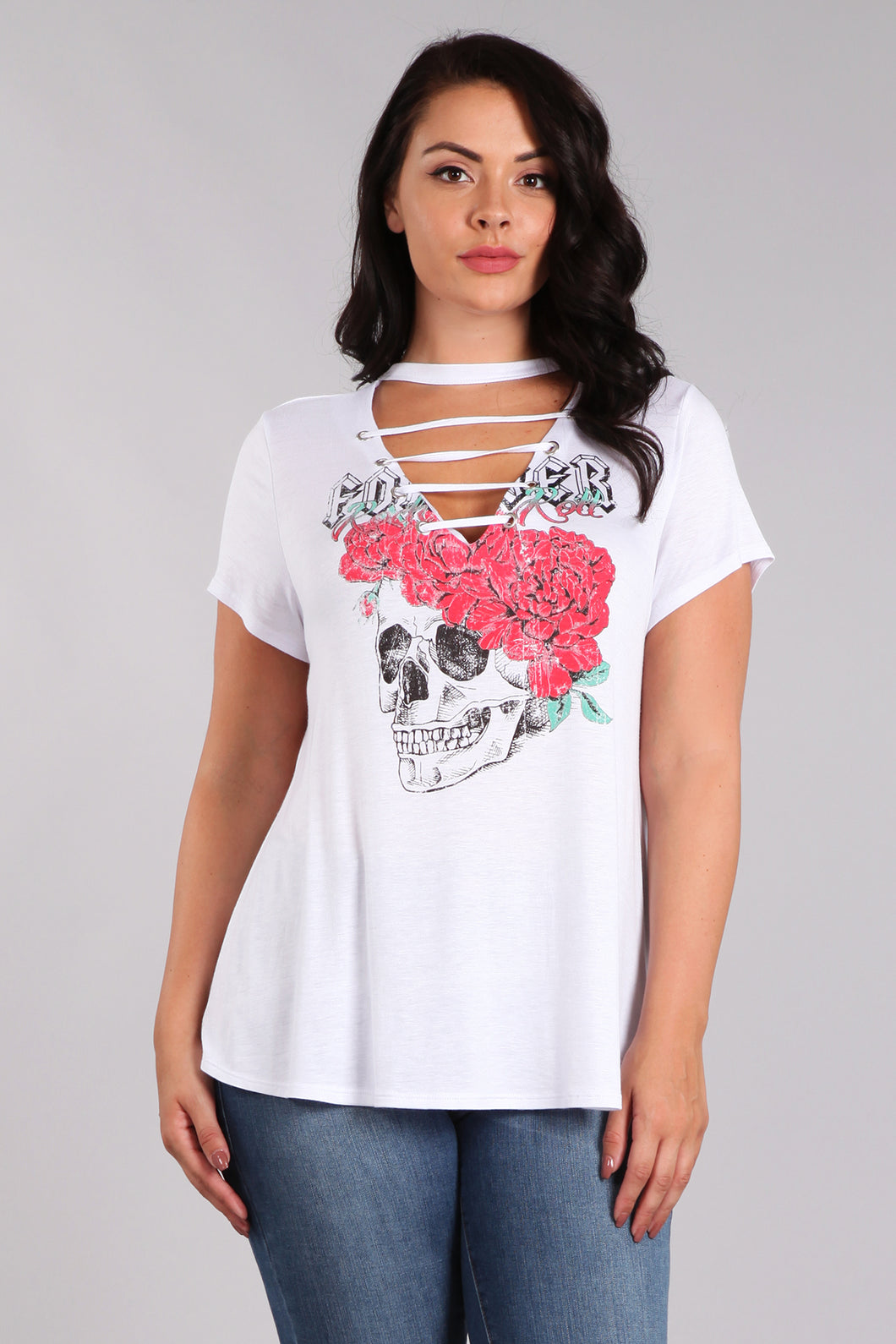 I Love Rock n Roll - Distressed Tee - Curvy