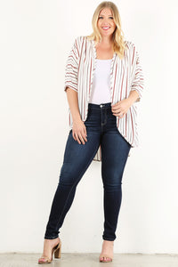 I Mean Business - Lightweight Cardigan - Curvy