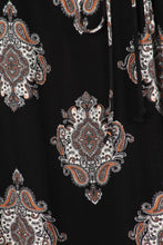 Load image into Gallery viewer, Pretty Pretty Print - Belted Tunic with Paisley Detail - Multiple Colors - Curvy