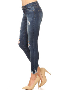 Hey Good Lookin' - Distressed Denim Jeans