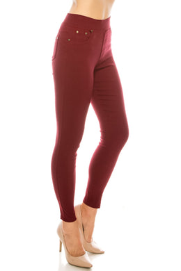 Your Perfect Jegging- Burgundy