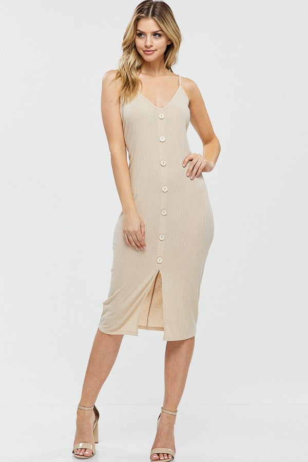 Here for You - Dress (Taupe) - Multiple Colors Available