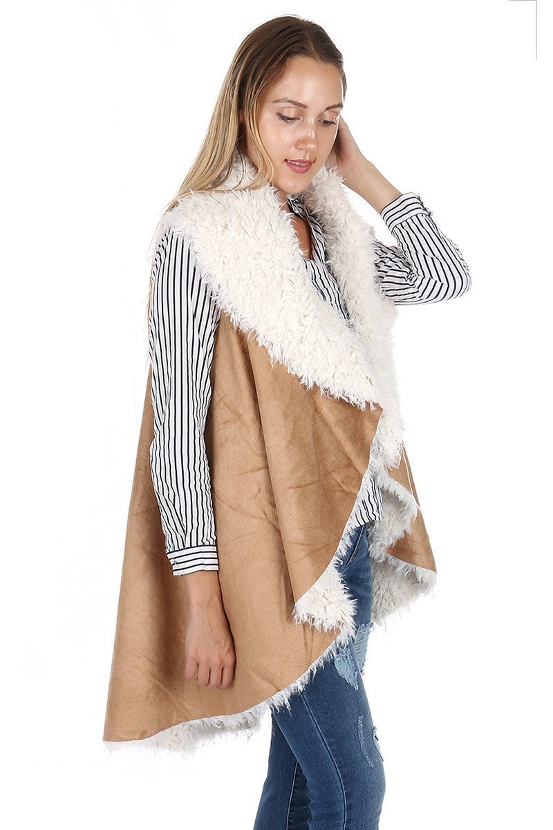 Hard to Forget You- Faux Fur Vest