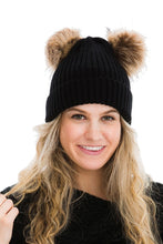 Load image into Gallery viewer, Double Trouble- PomPom Beanie