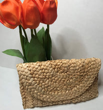 Load image into Gallery viewer, Beach Please - Woven Rattan Lightweight Clutch Handbag
