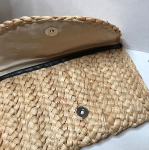 Beach Please - Woven Rattan Lightweight Clutch Handbag