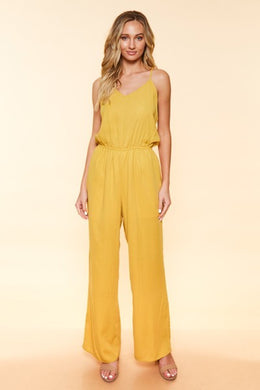 Walkin' On Sunshine - Racer Back Jumpsuit