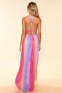 Walk My Way - Maxi Dress with Crisscross Back