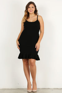 Cinco De Fuego - Fitted Sleeveless Dress with Ruffle Detail - Curvy