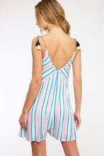 Load image into Gallery viewer, Boardwalk Babe - Striped Romper