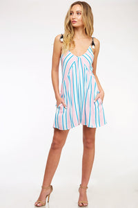 Boardwalk Babe - Striped Romper