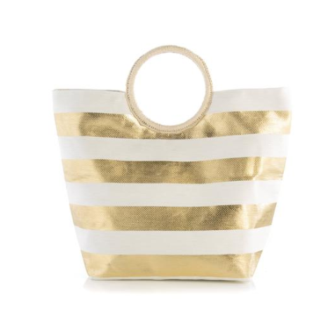 Nautical by Nature - Large Stripe Tote