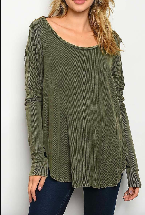 Everyday Is A Good Day- Olive Tunic