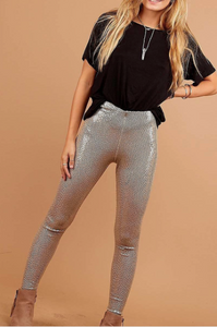 Popping Champagne- Sequin Leggings