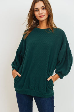 Emerald Lies- Sweater with Pockets