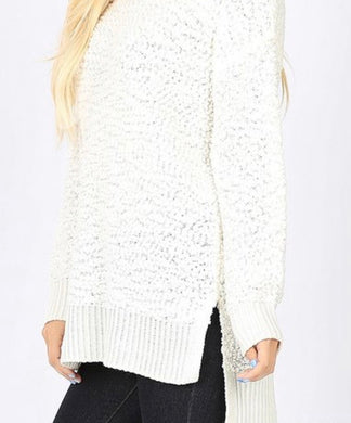 Fall Into Me- Curvy Ivory Sweater