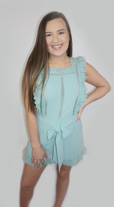 Nothing But The Best- Seafoam Romper