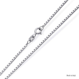 9K White Gold Box Chain