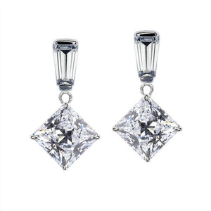 Amberley Baguette Princess Drop Earrings