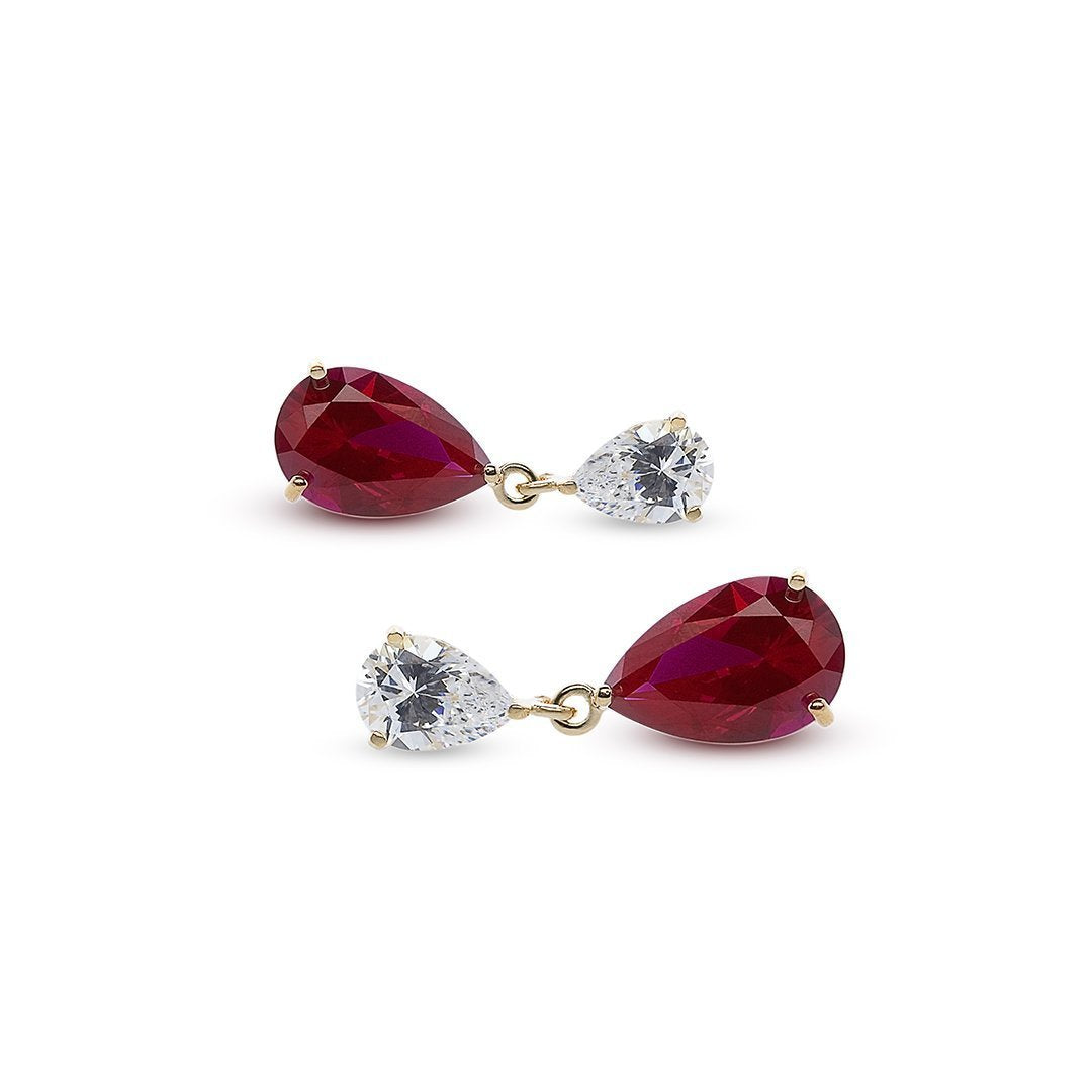 Arabella Double Pear Drop Earrings