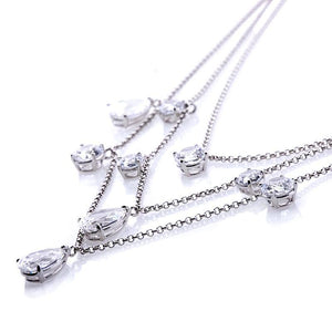 Adrianna three Tiered Raindrops Necklace