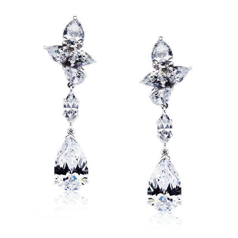Josie Crosscut Pear Drop Earrings