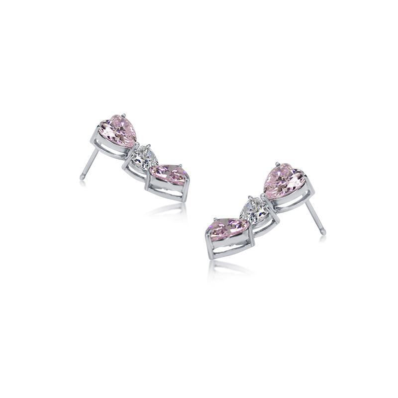 Gramercy Tri Heart Drop Earrings