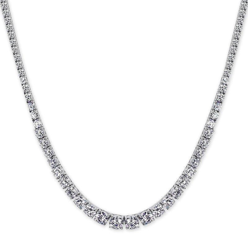 Taryn Round Prong Line Necklace