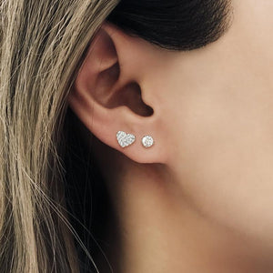 Sterling Silver Stud Earring - Single Round Stud