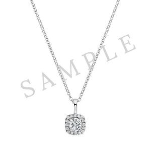 Four Prong Solitaire Pendant 18K White Gold