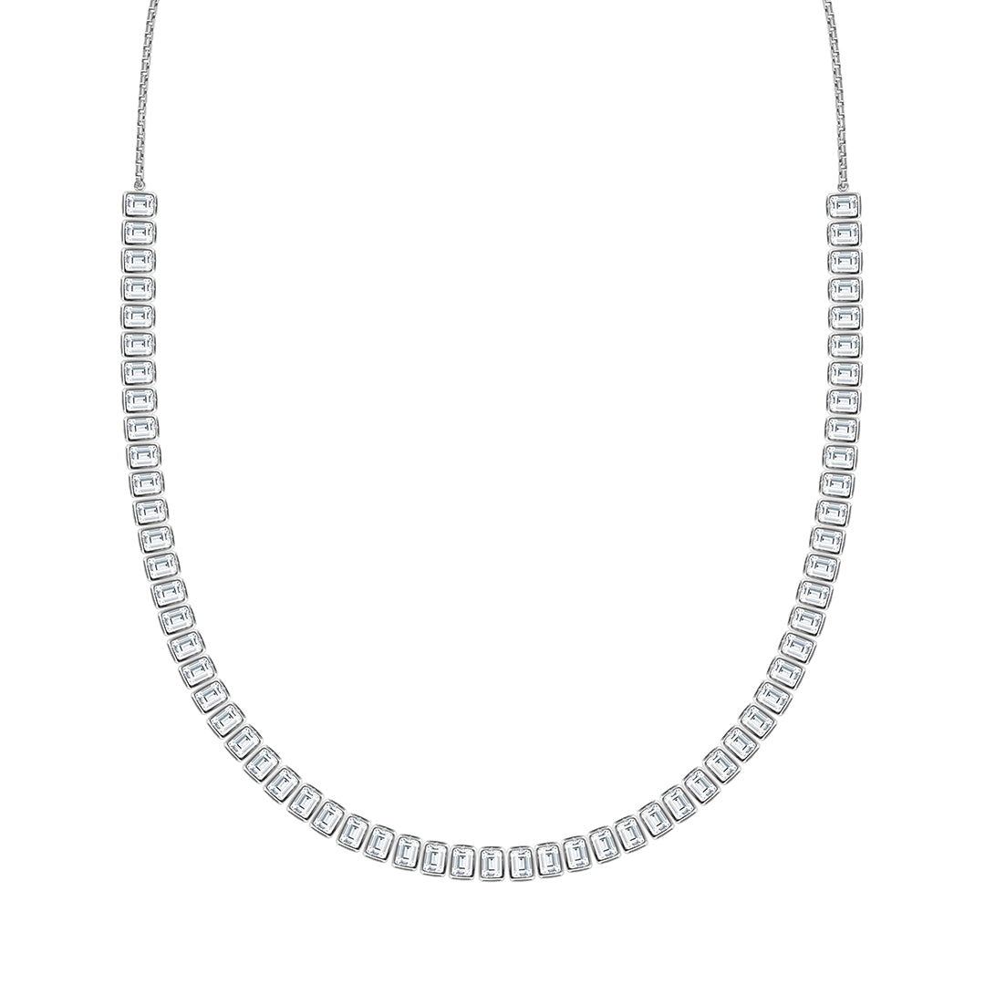 Cassidy Emerald Line Necklace