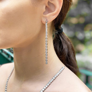 Cassidy Emerald Line Drop Earrings