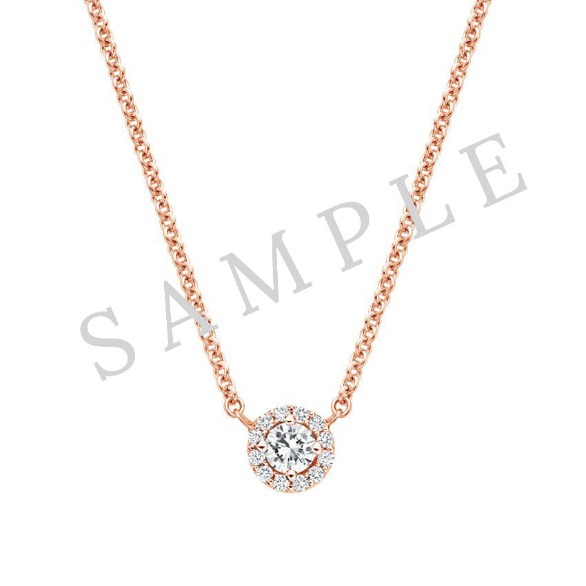 Four Prong Solitaire Pendant 18K Rose Gold