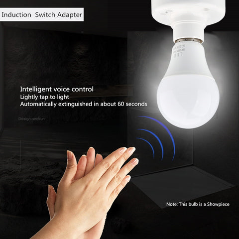 Sound Voice Control Induction Light Bulb Switch AdapterBody Motion SensorCorridor Lamp Base