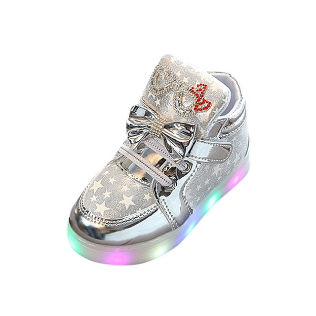 Toddler/Baby Shoes Star Luminous Colorful Light Sneakers