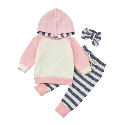 Toddler Baby Clothes Set With Hoodie