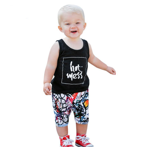Summer Clothes Set Letter Print Clothing