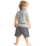 Little Busy Man Gabardine Shorts Set