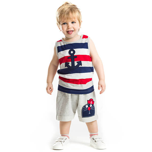 Captain Seal Dog Shorts Set