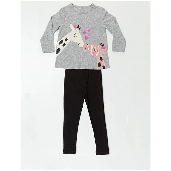 Giraffes in Love Tunic Set