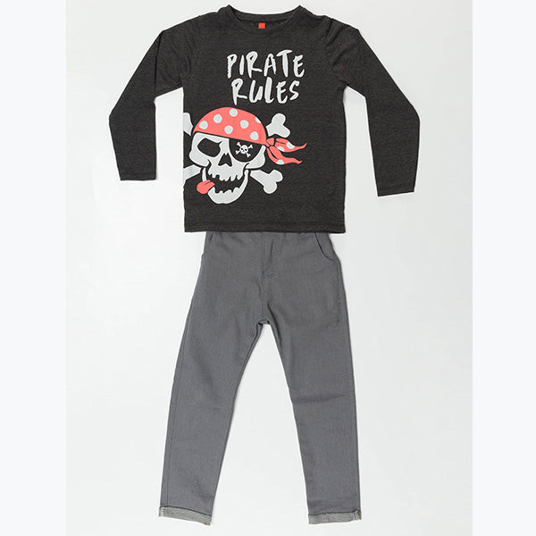 Pirate Rule Grey Denim Set
