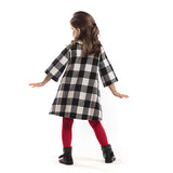 Pompom Checked Dress