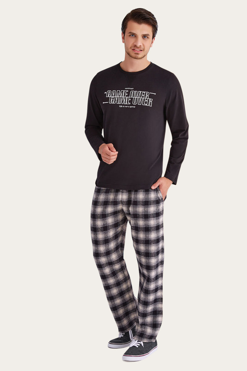 Hunters RolyPoly Black Men's Pajamas Set