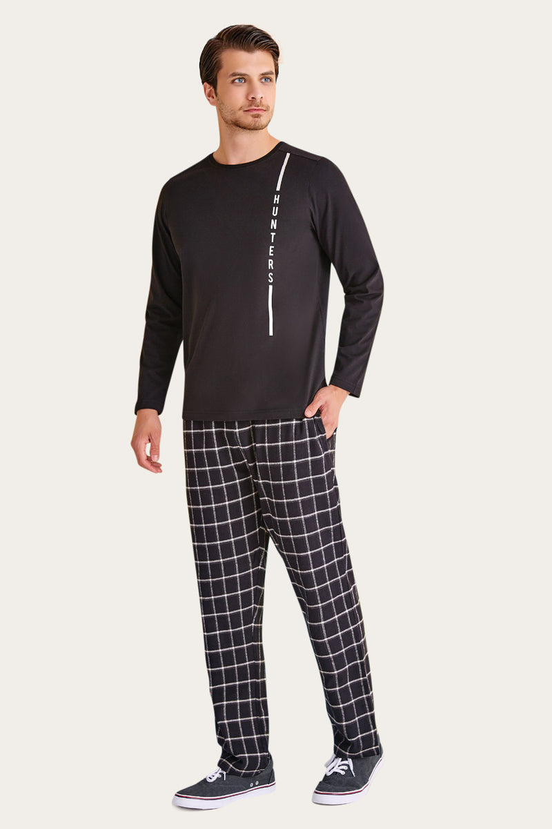 Hunters RolyPoly Black Men's Pajamas