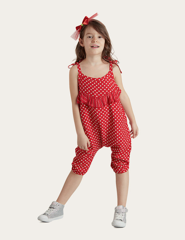 Red Dotted Jumpsuit