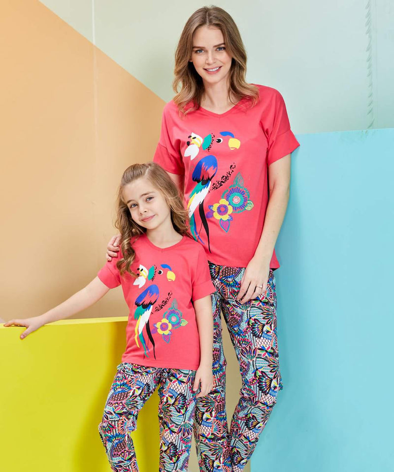 Mommy and I: Colorful Parrot Set