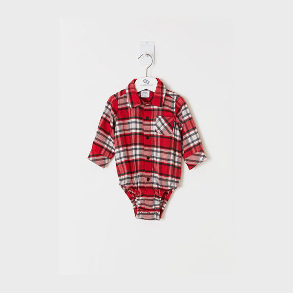 Red Checked Onesie