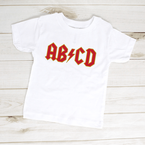 Image of ABCD Rock Star Toddler Shirt
