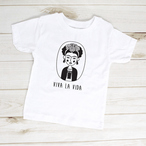 Image of Viva La Vida Frida Kahlo Toddler Shirt